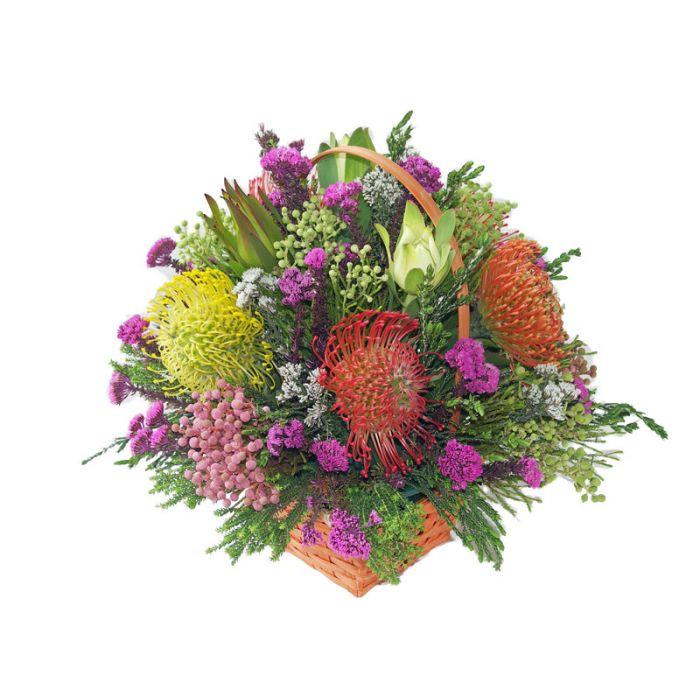 Colourful Spring Pinkcushion Basket