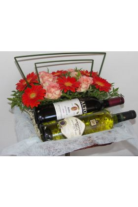 Florists Red and  hamper