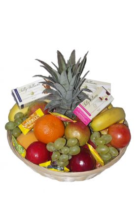 Fruit Basket with sweets and nougat