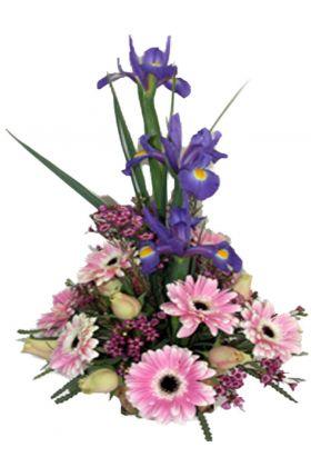 Florist Pink and Blue Arrangement