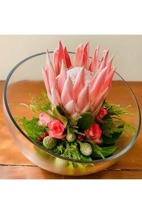 Christmas Flame Flower Arrangement