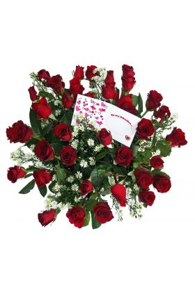 36 Long Stem Red Roses Bouquet