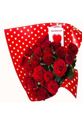 24 Red Roses Valentine Bouquet