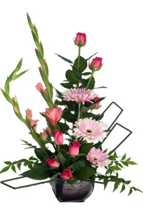 Deco Art pink flower arrangement